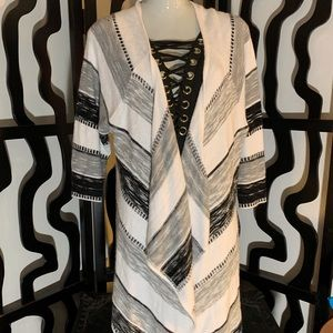 Avenue Plus Size Striped Cover Up